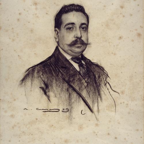 Ramon Casas - Retrato de Amadeu Hurtado - 1909