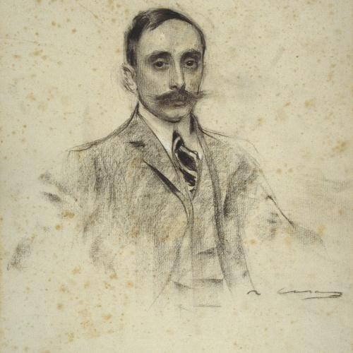 Ramon Casas - Retrato de Joan Ventosa - Hacia 1906