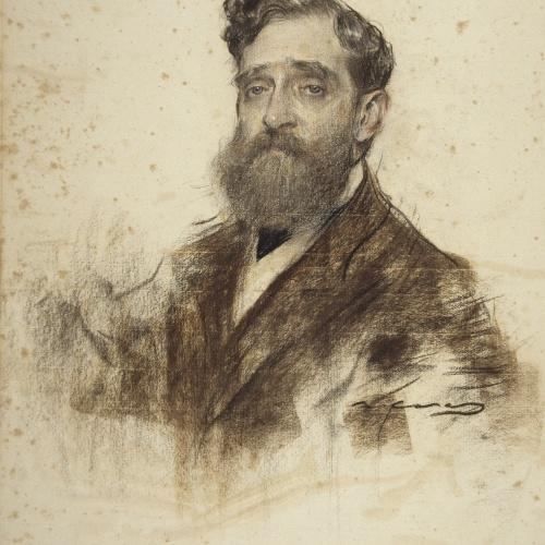 Ramon Casas - Retrato de Ignasi Janer - Hacia 1903-1908