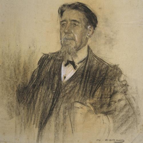 Ramon Casas - Retrato de Melcior de Palau - Hacia 1904-1906