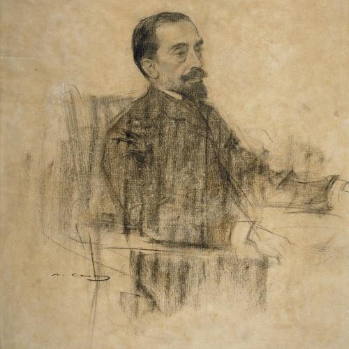 Ramon Casas - Retrat de Joan Maragall - Cap a 1903