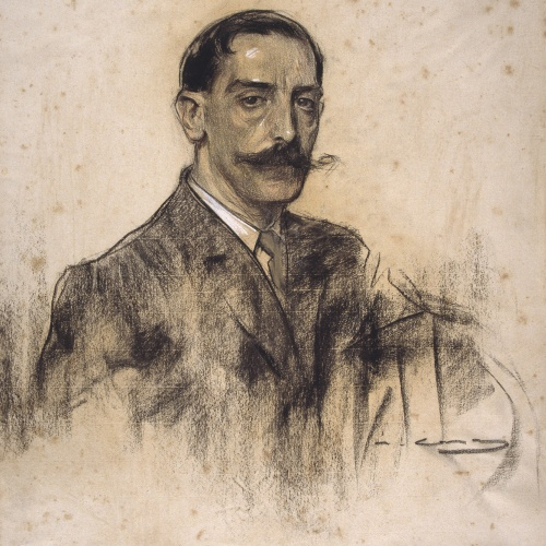 Ramon Casas - Retrato de Joaquim Malats - Hacia 1906-1908