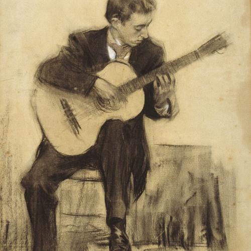 Ramon Casas - Retrato de Miquel Llobet - Hacia 1900