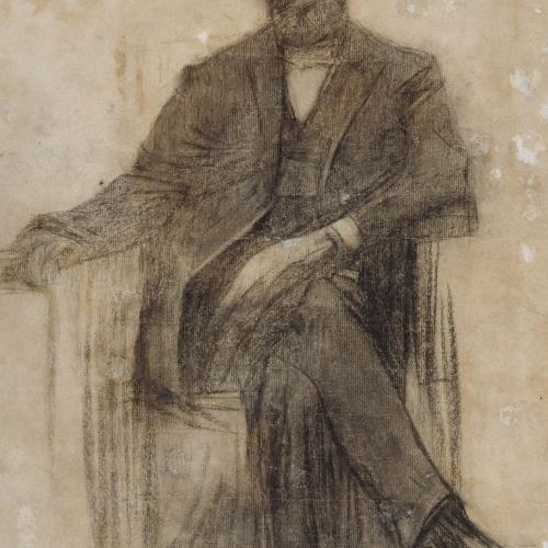 Ramon Casas - Retrat d'Antoni Nicolau - Cap a 1897-1899