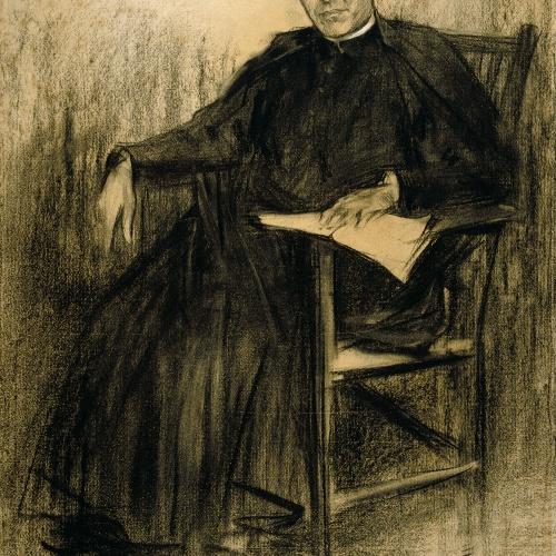 Ramon Casas - Retrato de Jacint Verdaguer - Hacia 1901