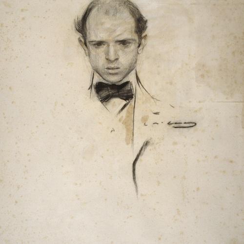 Ramon Casas - Retrat de Pau Casals - Cap a 1902-1904