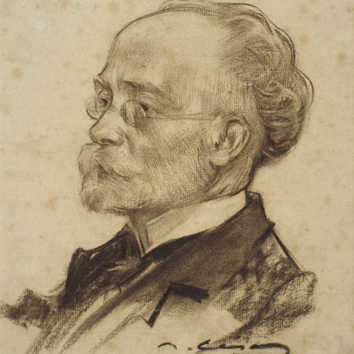 Ramon Casas - Portrait of Felip Pedrell - Circa 1902