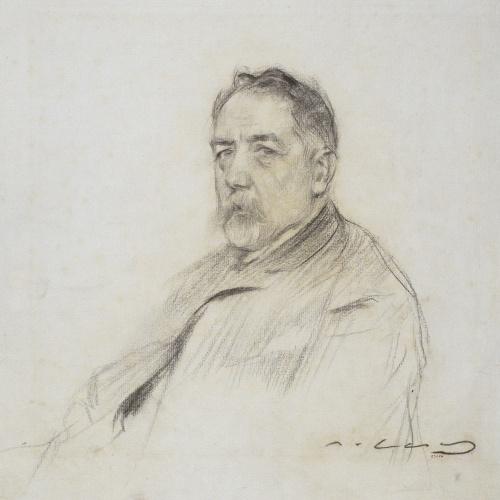 Ramon Casas - Retrato de Josep Pin i Soler - Hacia 1903