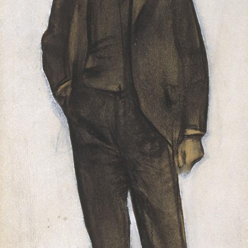 Ramon Casas - Retrato de Amadeu Vives - Hacia 1897-1899