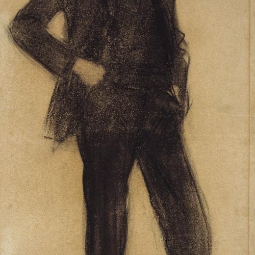 Ramon Casas - Retrato de Enrique Granados - Hacia 1897-1899