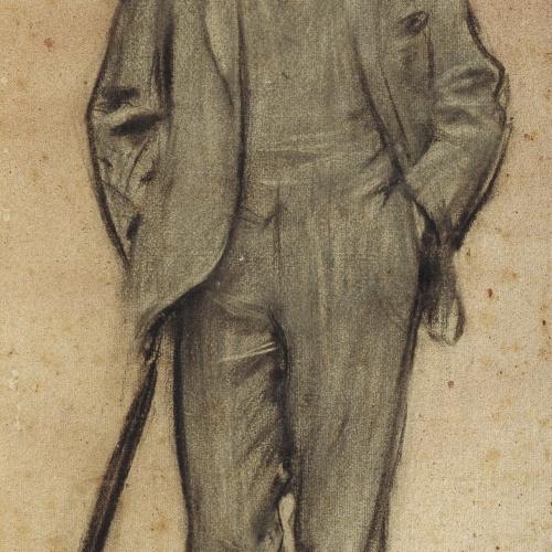 Ramon Casas - Portrait of Isaac Albéniz - Circa 1897-1899