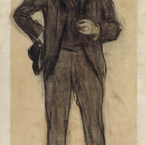 Ramon Casas - Retrato de Agapit Vallmitjana - Hacia 1897-1899