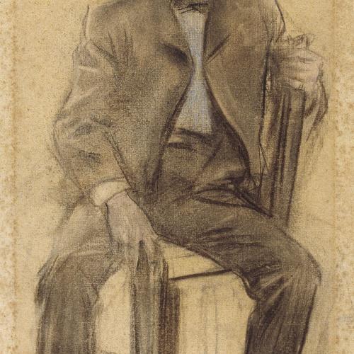Ramon Casas - Retrato de Celestí Galceran - Hacia 1897-1899
