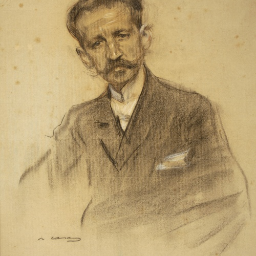Ramon Casas - Retrato de Jacinto Octavio Picón - Hacia 1904-1905