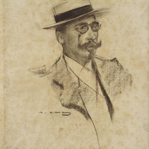 Ramon Casas - Retrato de Henri François Roujon - 1901