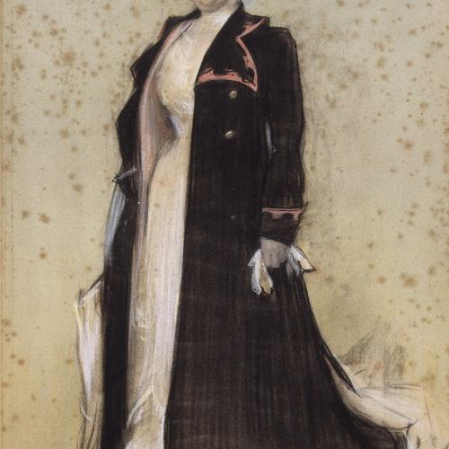 Ramon Casas - Retrato de María Luisa Caze Mir, esposa de Joaquim Cabot - 1900