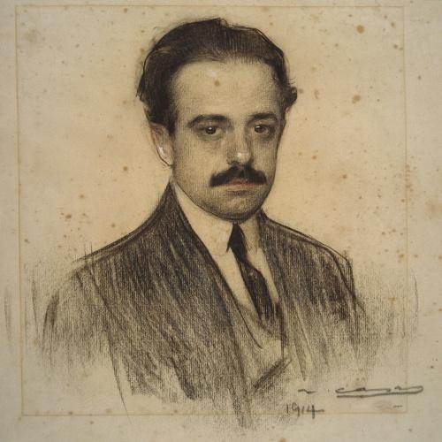 Ramon Casas - Retrato de Romà Jori - 1914