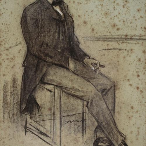 Ramon Casas - Retrato de Miquel Àngel Fargas - Hacia 1897-1899