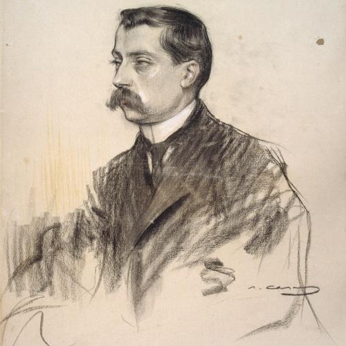 Ramon Casas - Portrait of Albert Bastardas - Circa 1905-1908