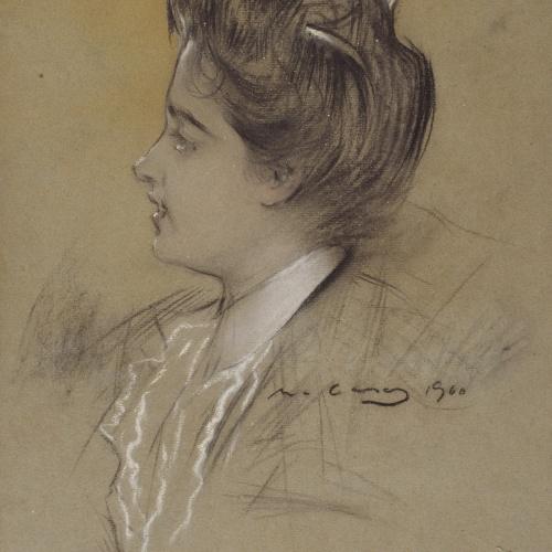 Ramon Casas - Young woman - 1900