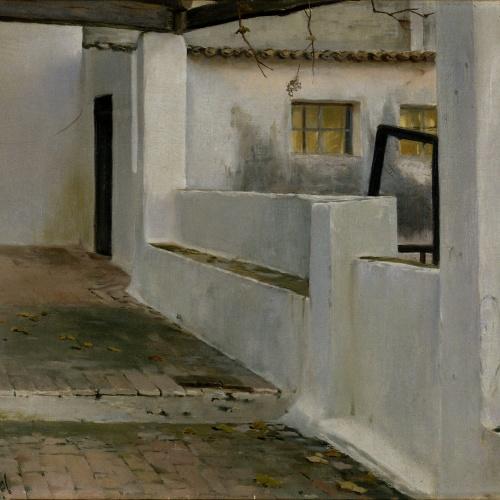 Santiago Rusiñol - Galeria blanca - Sitges, 1892