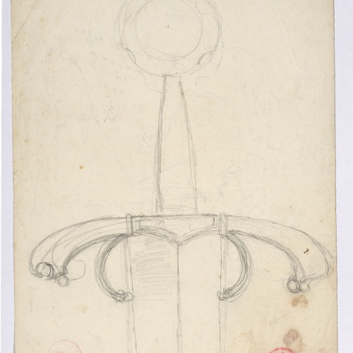 Marià Fortuny - Hilt of a sword - Circa 1870-1872