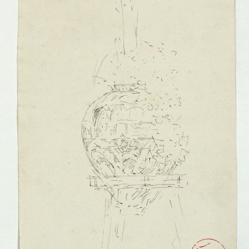 Marià Fortuny - Preliminary drawing of a Muslim-style vase - Circa 1870-1872