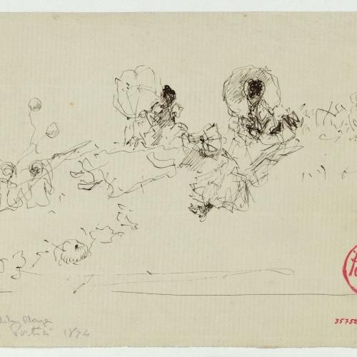 Marià Fortuny - Estudio para el cuadro «Playa de Portici» - Hacia 1874