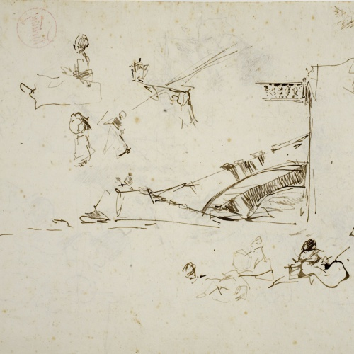 Marià Fortuny - Study for the picture 'The Beach of Portici' - Circa 1874
