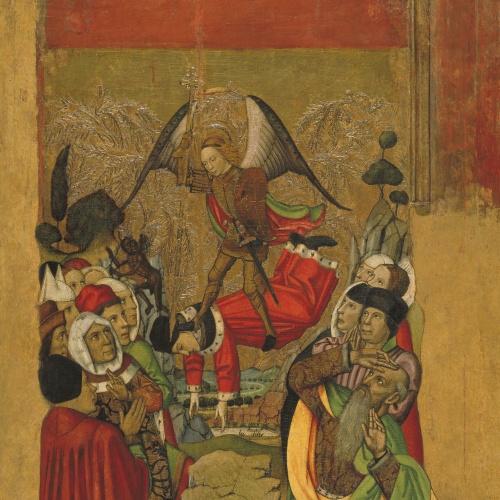 Jaume Huguet - Sant Miquel vencedor de l'Anticrist - Cap a 1455-1460