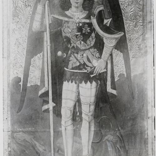 """Imatge de la peça abans de la restauració presentada a l'exposició """"Barcelona restaura"""" de 1980"""