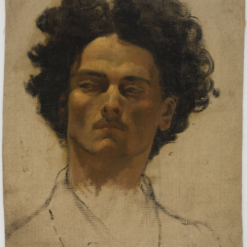 Ramon Amado - Study of a man's head - Rome, circa 1865-1871