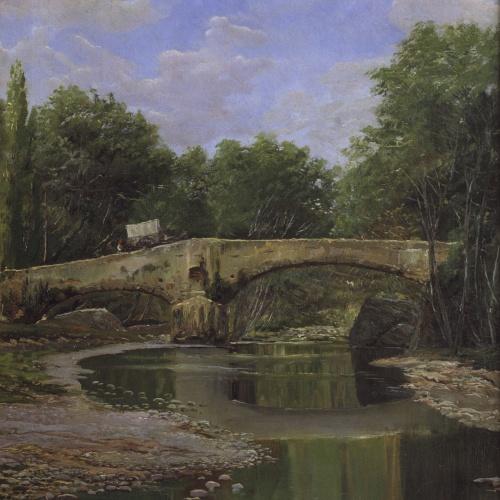 Santiago Rusiñol - Bridge over a River - Barcelona, Circa 1884