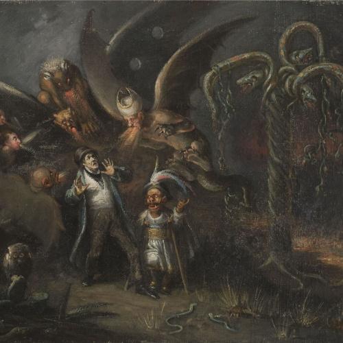 Leonardo Alenza - El diablo cojuelo. Visió infernal - 1838