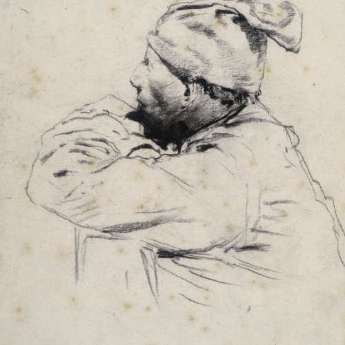 Santiago Rusiñol - Farmer with 'Barretina' - Circa 1880-1885
