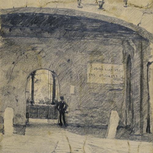 Santiago Rusiñol - Arc i mur de portal. Granada [?] - Cap a 1895