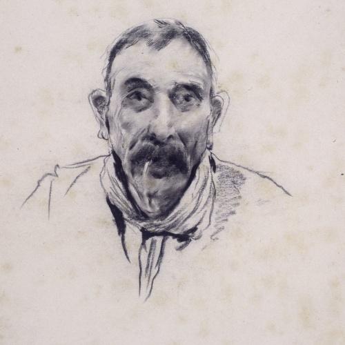 Santiago Rusiñol - Retrat d'home - Cap a 1890-1895