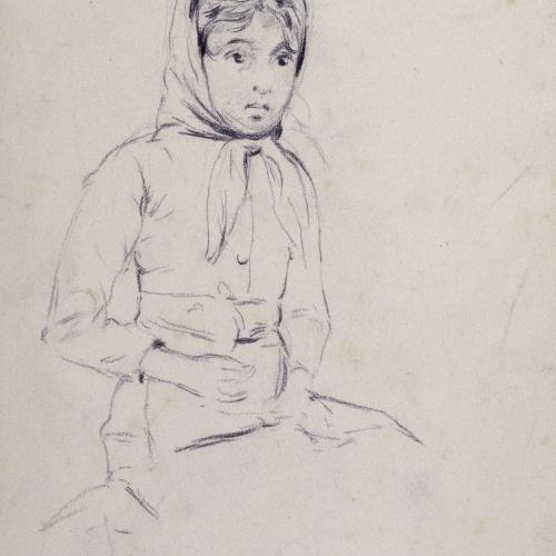 Santiago Rusiñol - Noia asseguda - Cap a 1883
