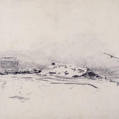 Santiago Rusiñol - Vista del port de Barcelona [?] - Cap a 1883