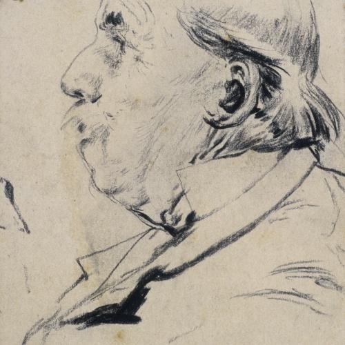 Santiago Rusiñol - Head of an Old Man - Circa 1883