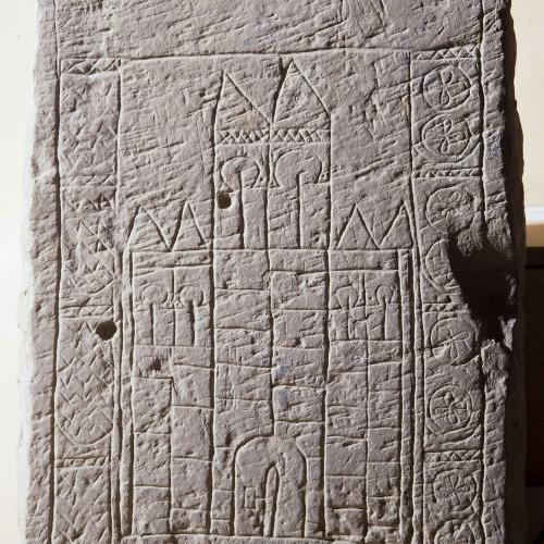 Anònim - Relleu reaprofitat com a placa amb castell - Segle XIII