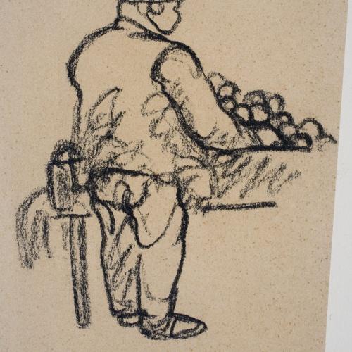Isidre Nonell - Orange seller - Circa 1911