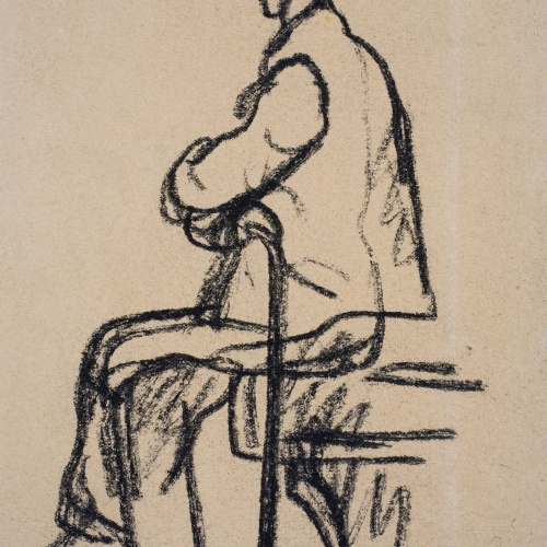 Isidre Nonell - Man seated - Circa 1911