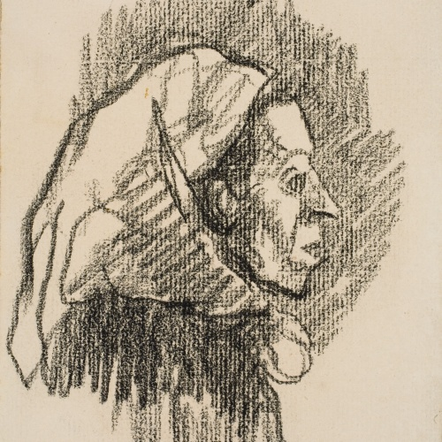 Isidre Nonell - Female bust - Circa 1909-1911