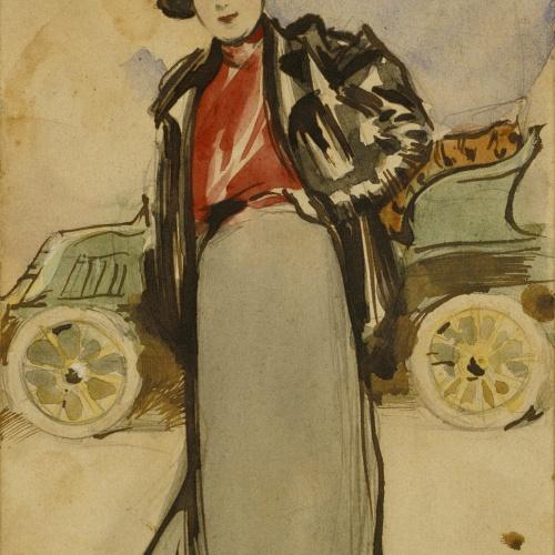 Ramon Casas - A woman driver - Circa 1900