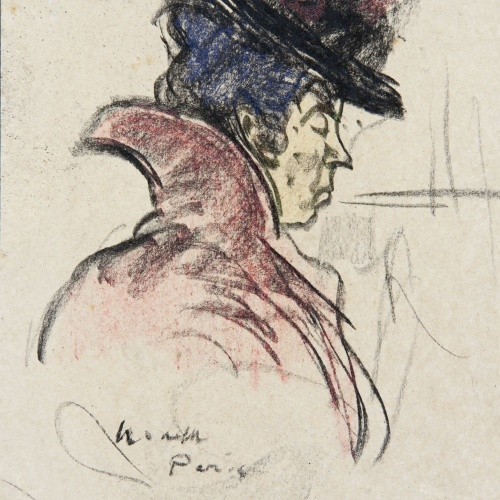 Isidre Nonell - Frenchwoman with a hat - Circa 1897-1899