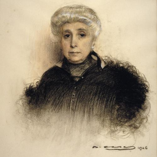 Ramon Casas - Portrait of Senyora de Partagàs - 1926