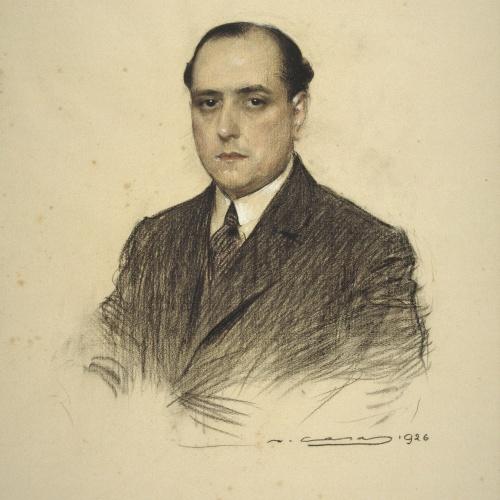 Ramon Casas - Portrait of Rossend Partagàs - 1926
