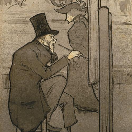 Isidre Nonell - Copista en el Museu del Louvre (Copista en el Museo del Louvre) - 1897