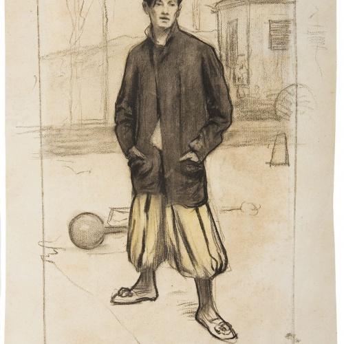 Santiago Rusiñol - Retrat d'Alfredo Sainati - Cap a 1898-1899